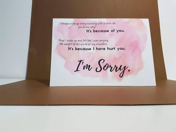 I am Sorry Quotes for Her, apologies for girlfriend - apology card messages