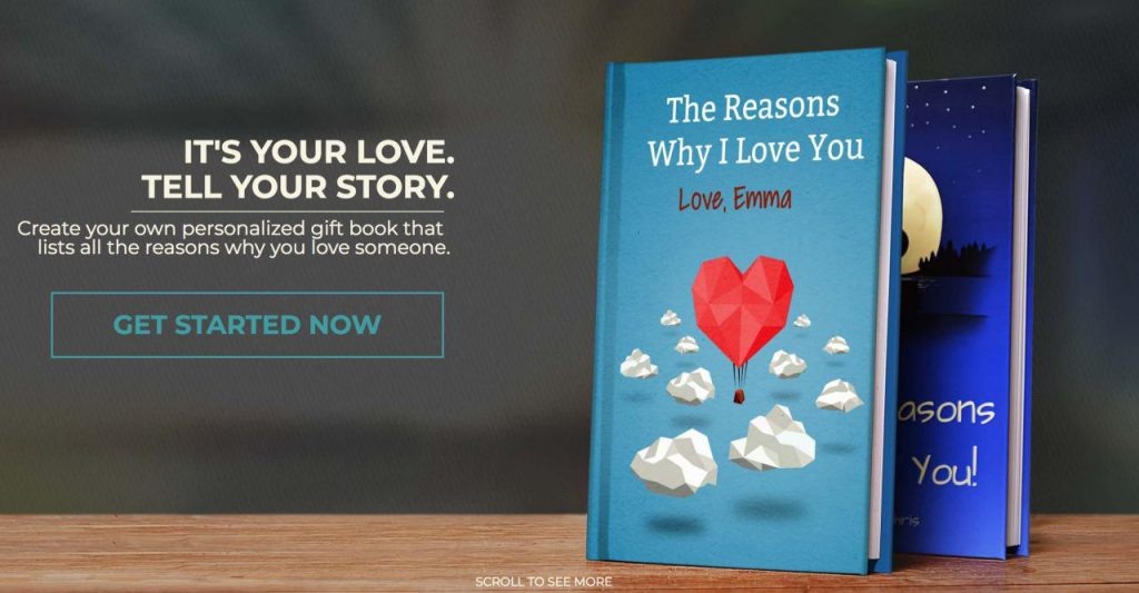 100 Reasons Why I Love You, I Love You Because list