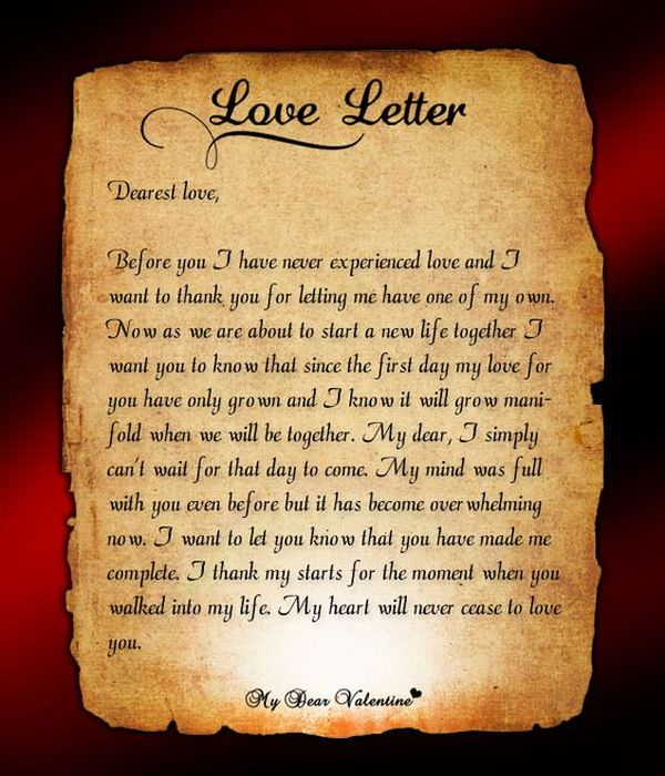 Love Letters for Him, Romantic Letters for Men