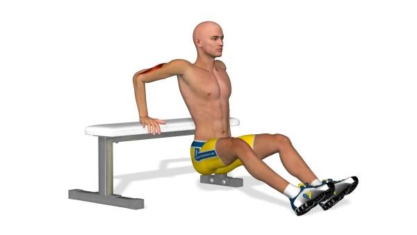 逆腕立て伏せで三頭筋を鍛えてフィニッシュを強化する!