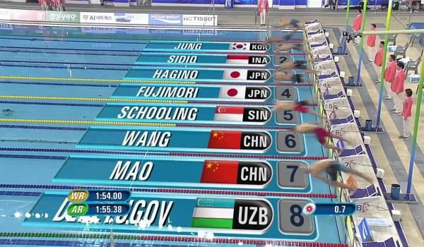 世界最高峰の泳ぎ、アジア大会での萩野選手の泳ぎ