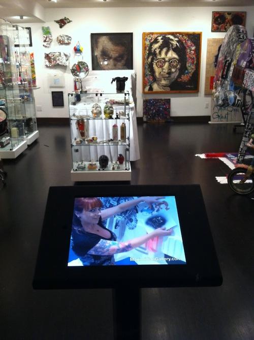 Maximillian Gallery Kiosk and Video