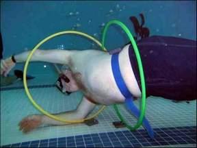 Swimming Game – Glide through the Hula Hoop