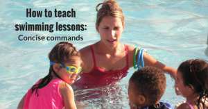 How to teach swimming- Concise commands