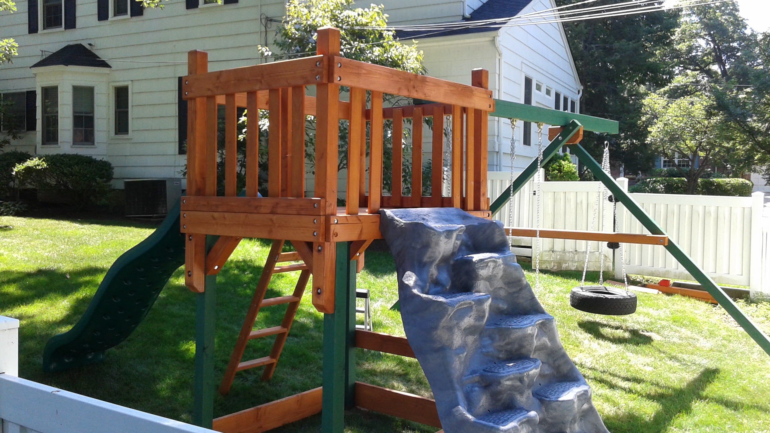 how to build a swing set on uneven ground