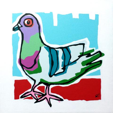 "Claud, 12""x12"", acrylic on canvas, 2016. Rob Elliott"