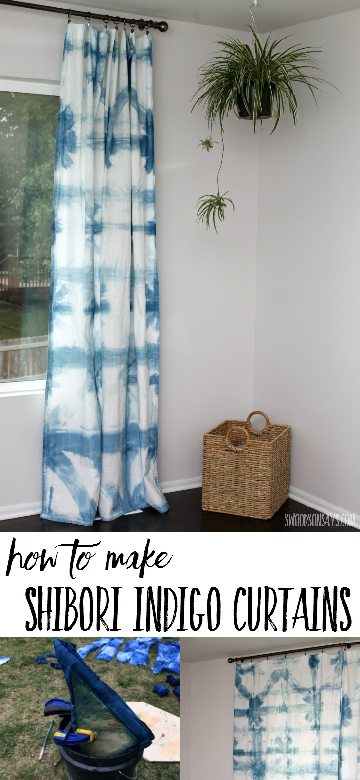 Make Curtains How To Make Indigo Dyed Curtains Swoodson Says