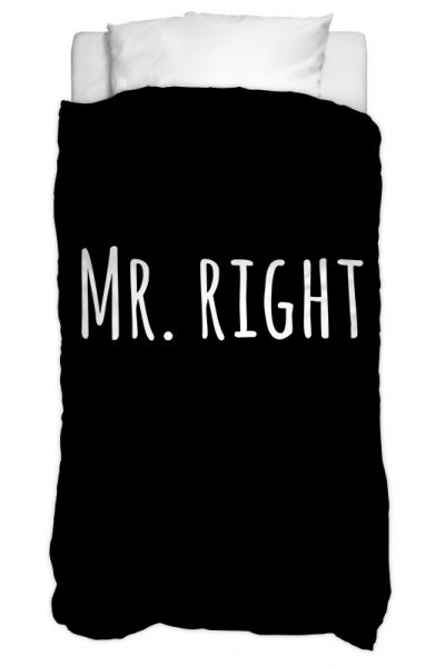 Bettbezug Mr Right Text 135 X 200 Cm
