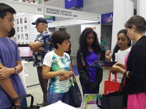 During the Star Education Fair at KL Convention Center