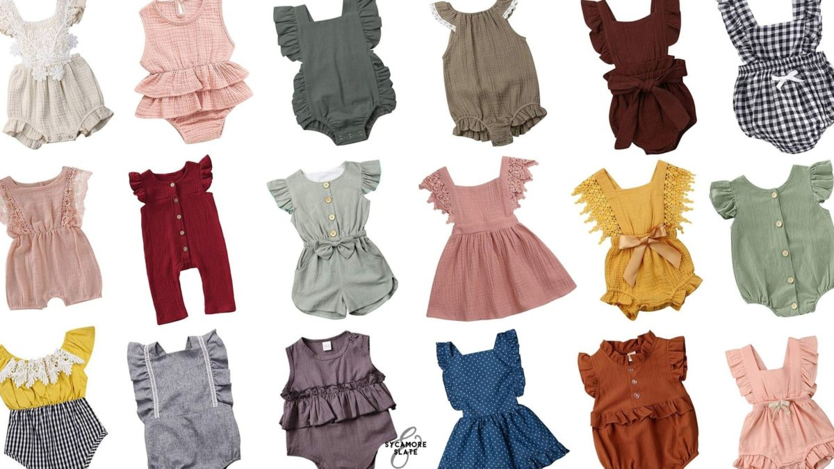 Vintage Look Baby Girl Vintage-look Summer Outfits