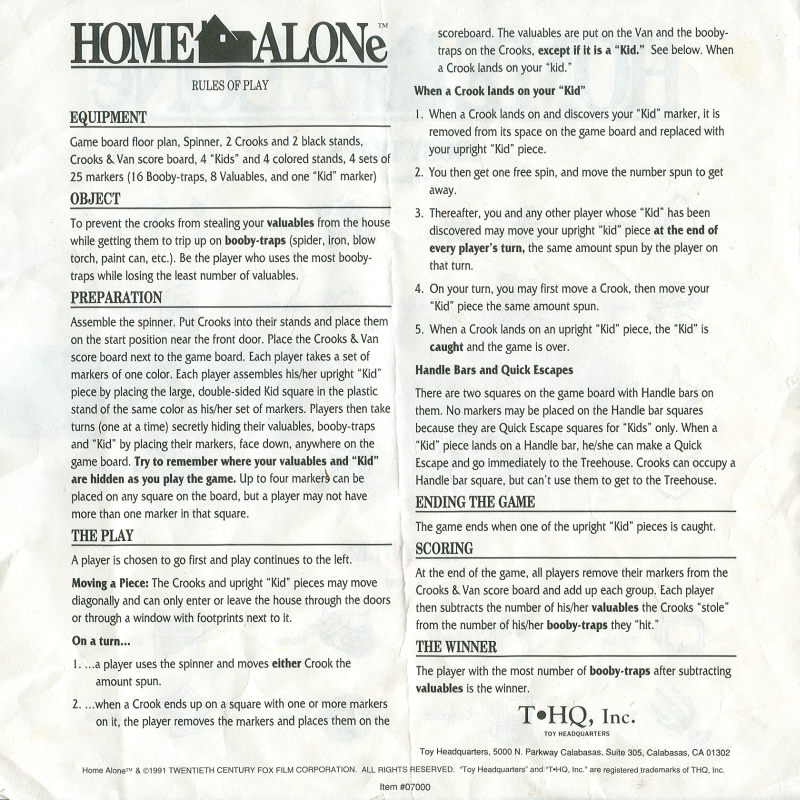 SydLexia - Complete Instructions for Home Alone The Game