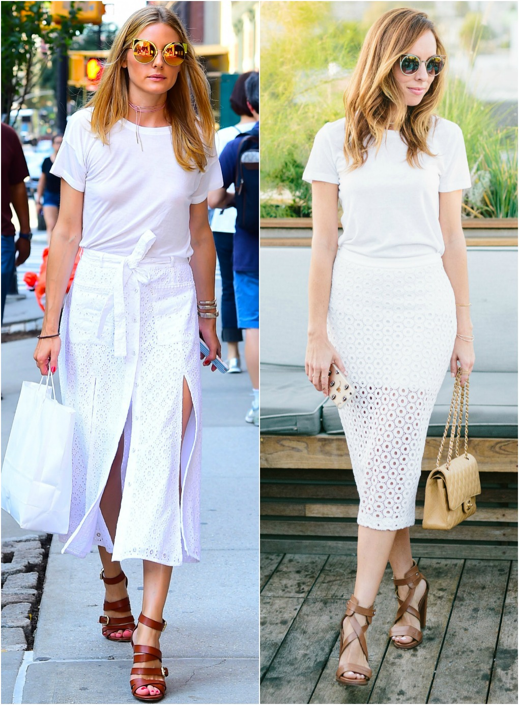 Olivia Palermo Apartment Decor Inspired By Olivia Palermo S White Tee Eyelet Skirt Sydne