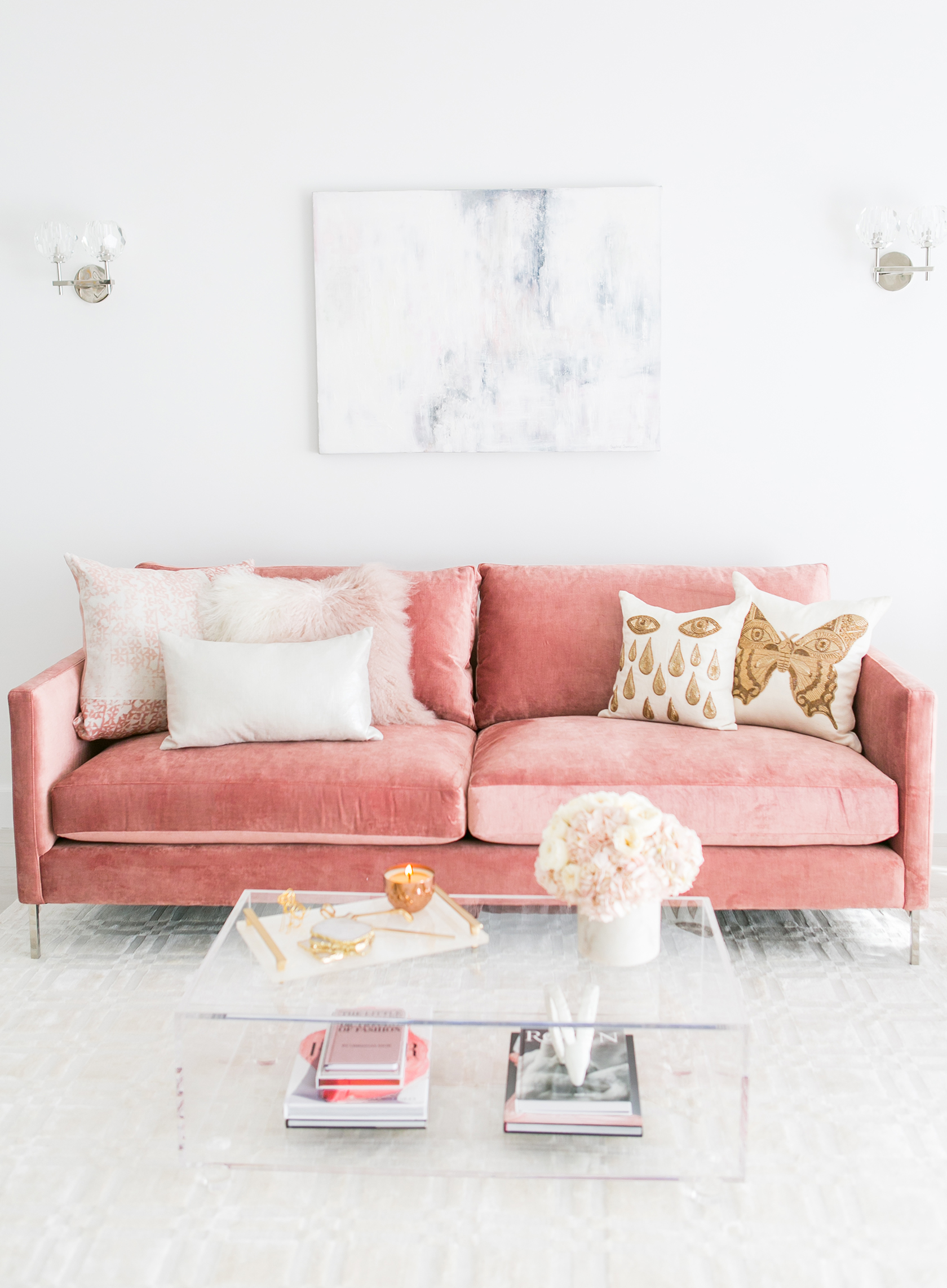 Woonkamer Roze Blush Living Room Decor Redecorating And Design