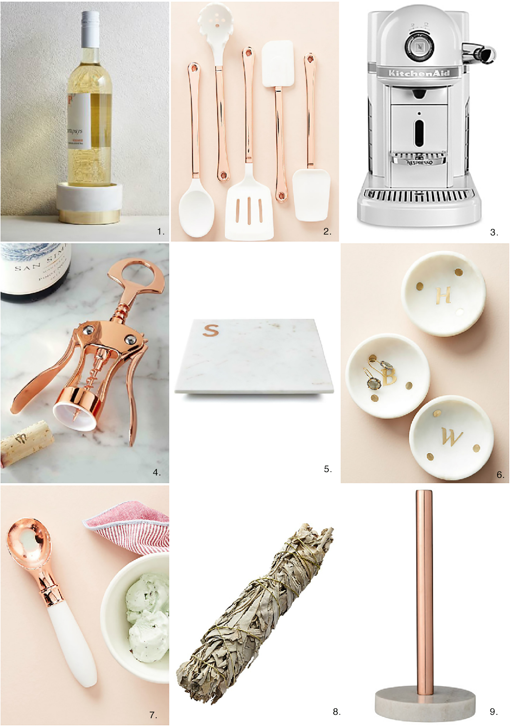 Rose Gold Decor Rose Gold And Marble Kitchen Decor Accents And Design