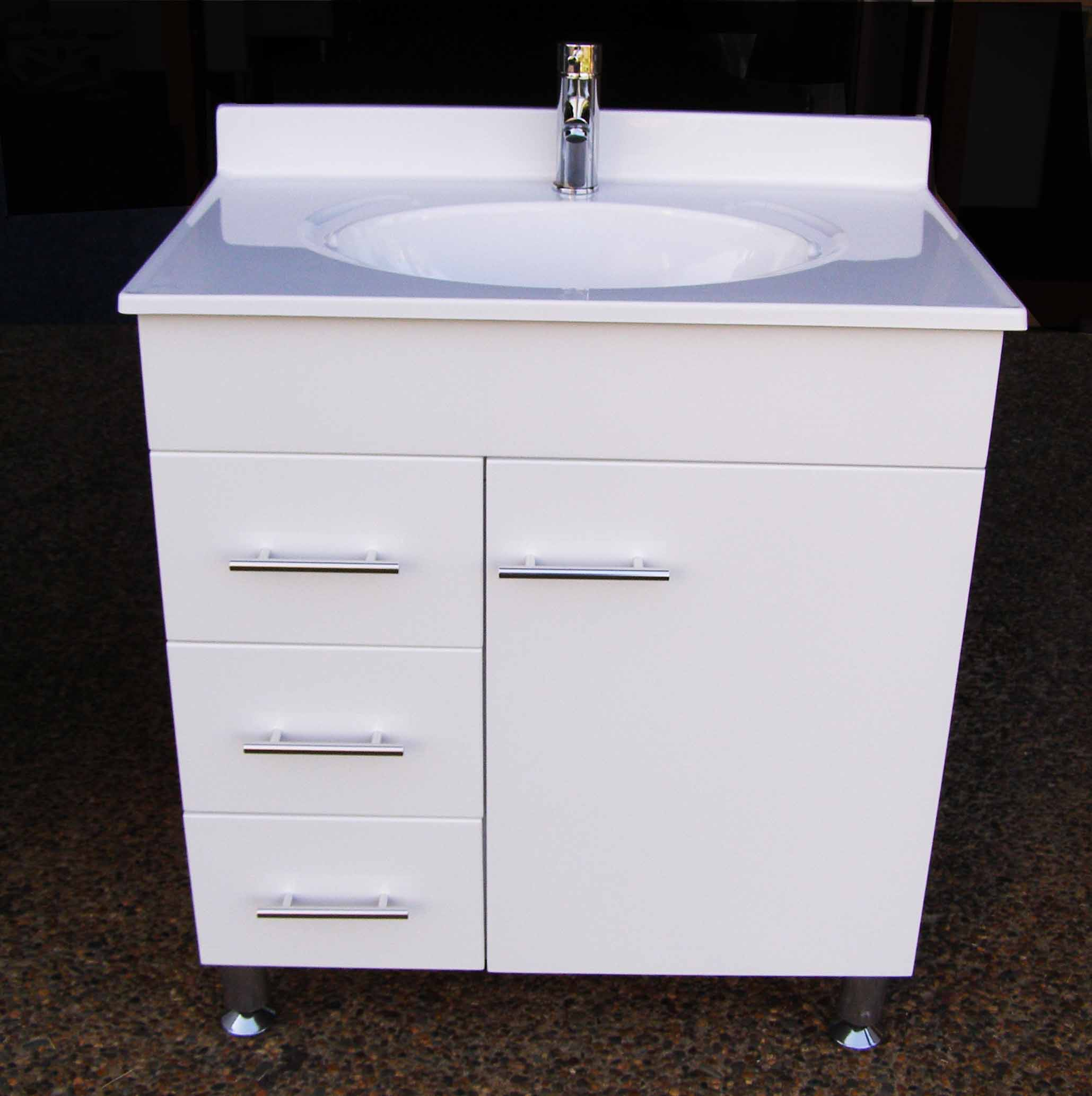 Bathroom Vanity Units Sydney Daedalus Wpl750l 750mm Bathroom Vanity Unit With