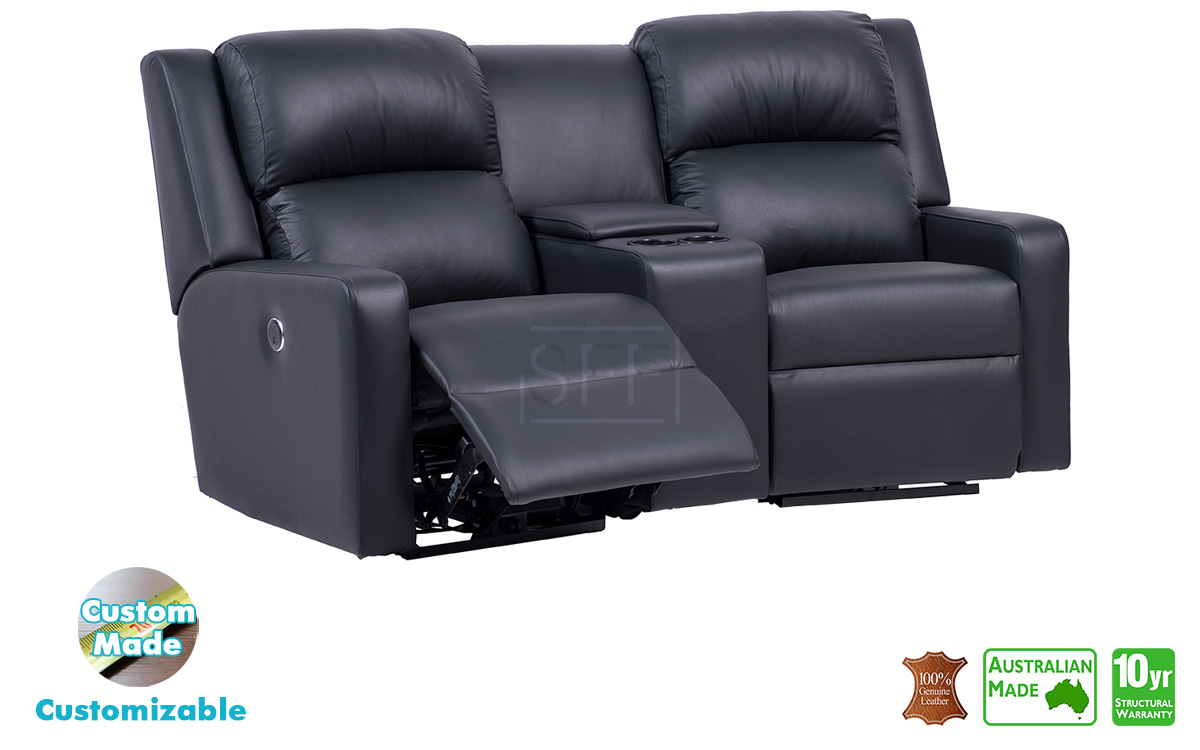 Australian Made Sofas Regency Electric Recliner Theatre Lounge In Full Italian Leather
