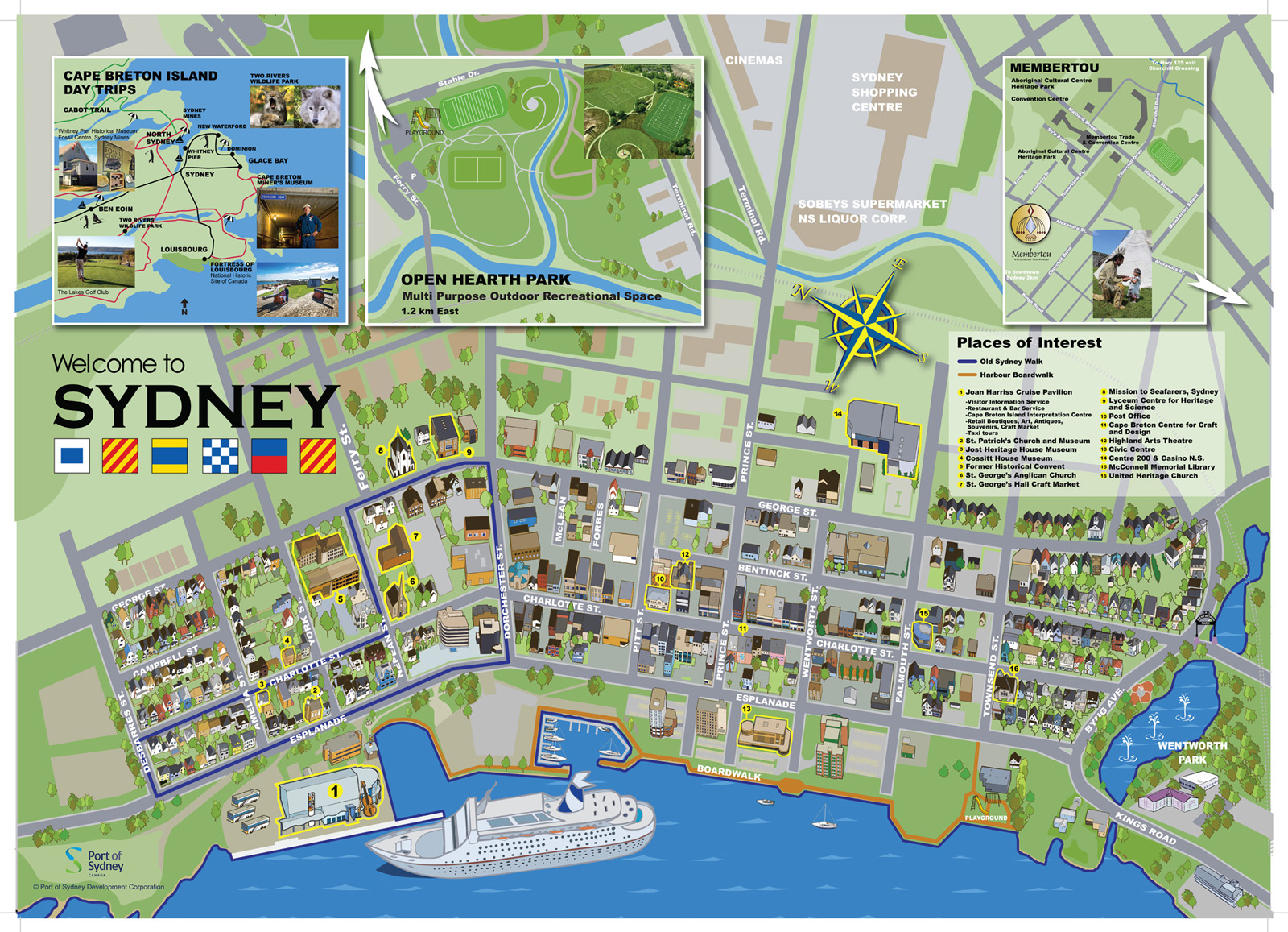 Map Store Sydney Attractions Port Of Sydney Nova Scotia Canada
