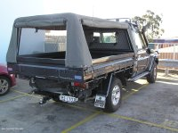 Canvas Ute Canopy & CUSTOM Canvas Canopy With Dog Cages