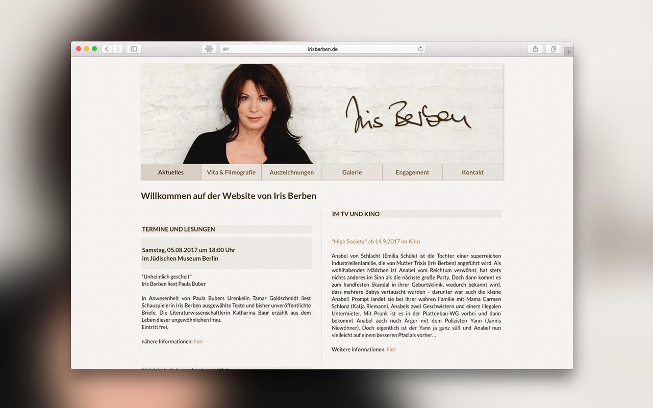 Projekte-Iris-Berben-Website
