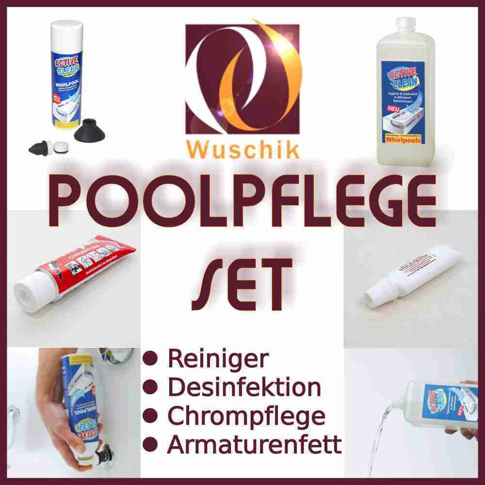 Jacuzzi Pool Pflege Whirlpool Care Set Cleansing Disinfection Chromium Care