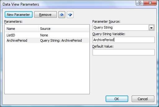 Data View Parameters