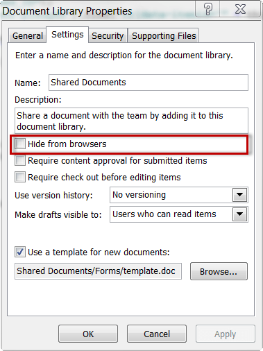 Document Library Properties