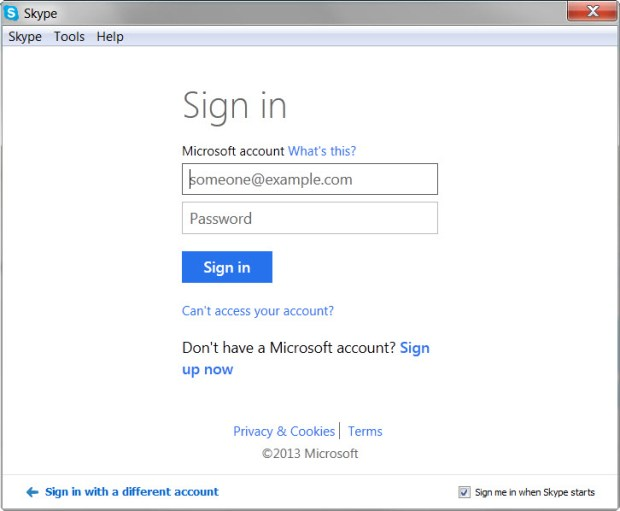 Microsoft Account Login