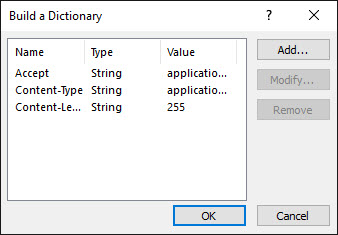 Create Dictionary