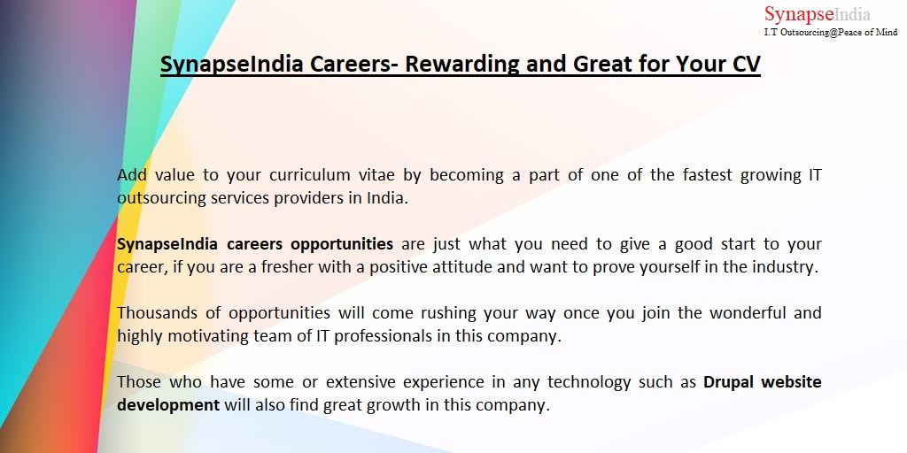 SynapseIndia Career and development program - SynapseIndia Career - rewarding careers