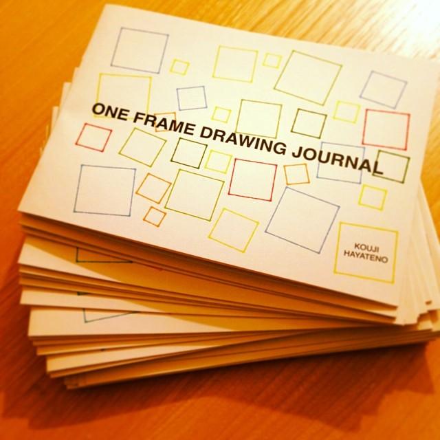 (完売)新作ZINEのお知らせ:ONE FRAME DRAWING JOURNAL(100コマ絵日記)