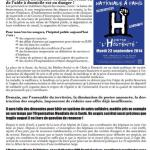 Automne 2014 : panne d'unité syndicale dans un contexte grave