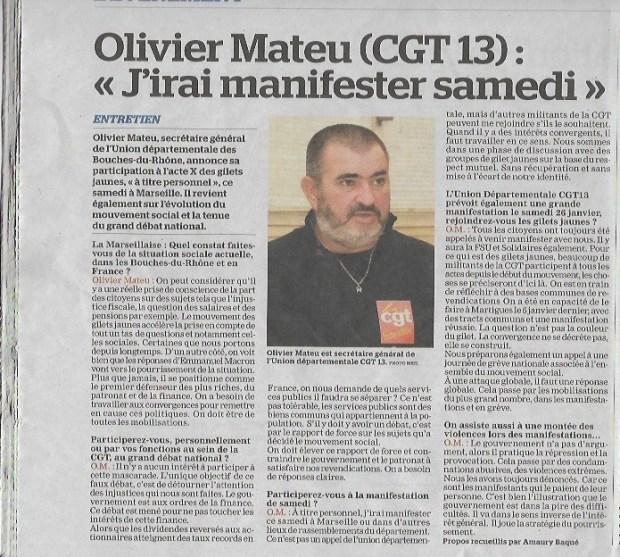 La Marseillaise du 16_01_19