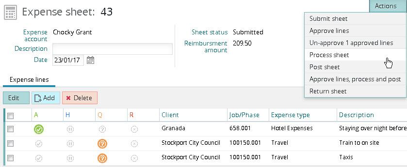 Expense approval \u2013 Synergist Express Ltd