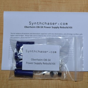 Oberheim OB-SX Power Supply Capacitor & Rebuild Kit
