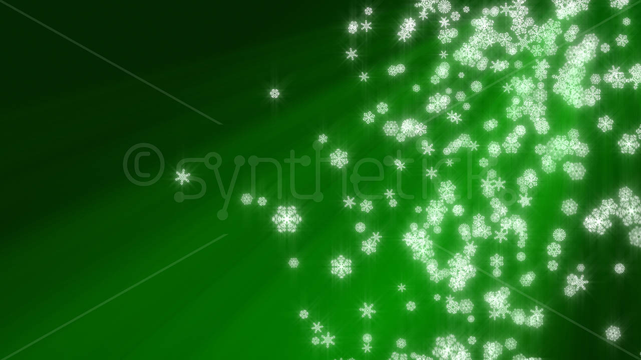 Falling Glitter Wallpaper Snowflakes Green Background Stock Video Footage