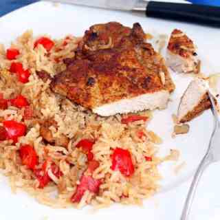 Baked-Pork-Chops-with-Tomatoes-and-Rice-Syrup-and-Biscuits