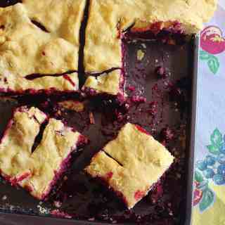 Blueberry Slab Pie/Martha and I Made a Pie