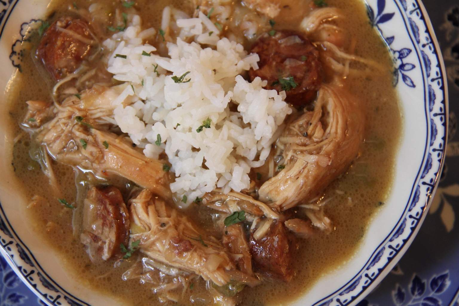 Chicken and Andouille Sausage Gumbo/Deep South Dish