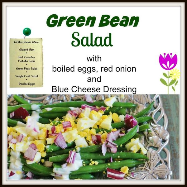 Green Bean Salad. Blanched green beans, boiled eggs, red onion and ...