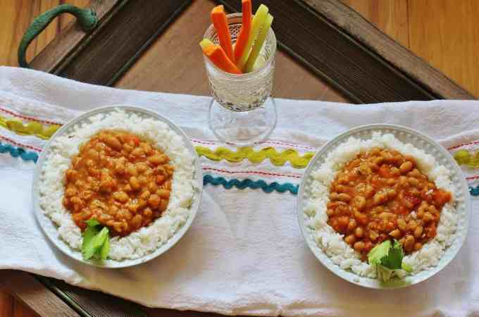 Stewed Navy Beans with Rice (2)