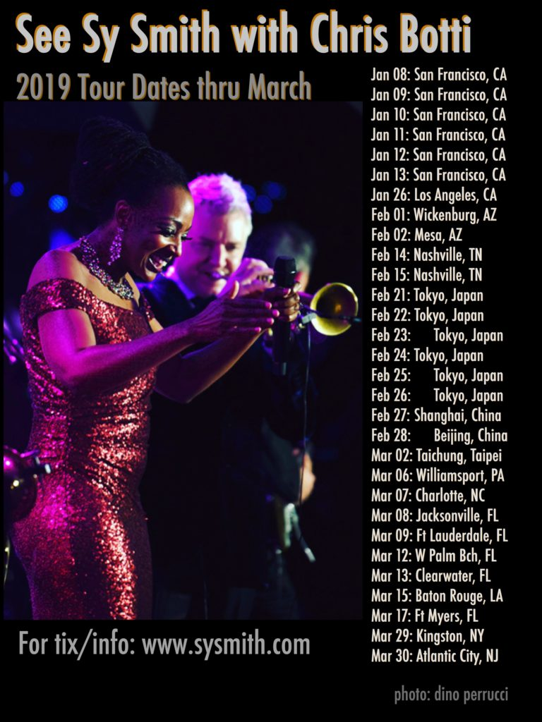 37 Tour See Sy W Chris Botti Tour Dates Thru March 2019 Syberspace