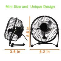 US 4inch USB Desk Fan Mini Table Fan Small Personal Fan ...