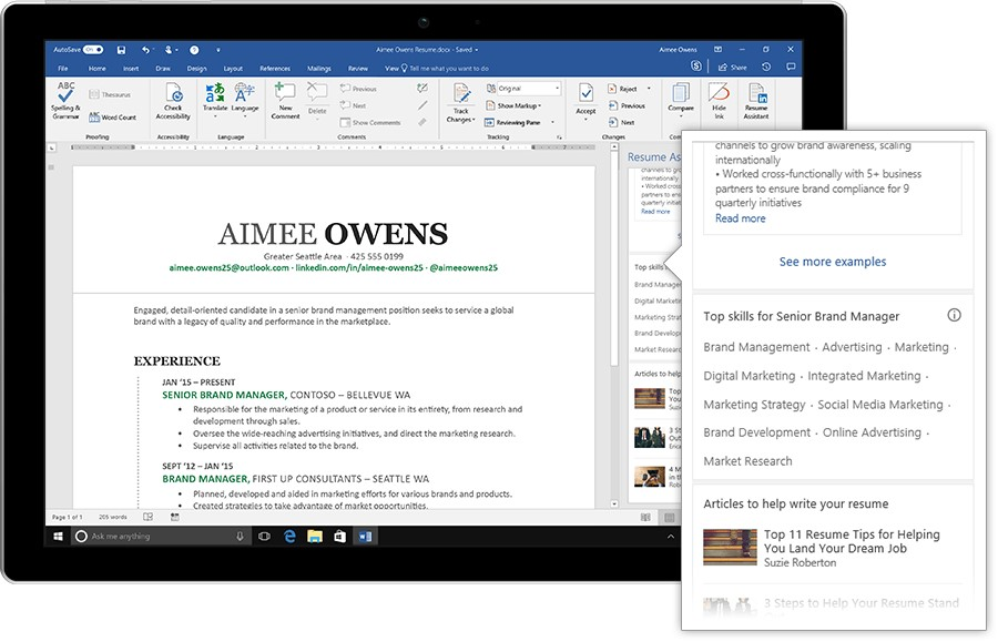 Make Resume More Effective With MS Word Resume Assistant - how to make resume on word