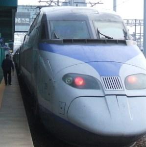 ソウルからKTX(高速鉄道)で木浦に到着