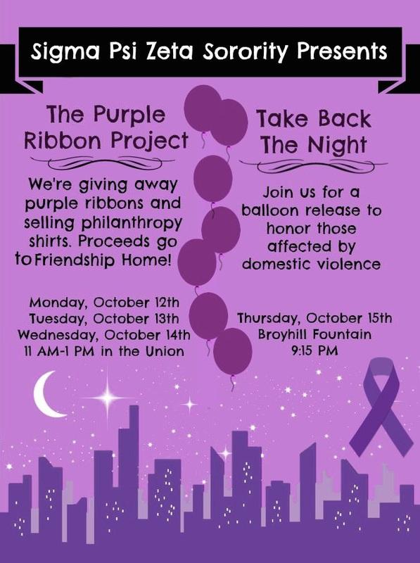 The Purple Ribbon Project  Take Back The Night - Sigma Psi Zeta
