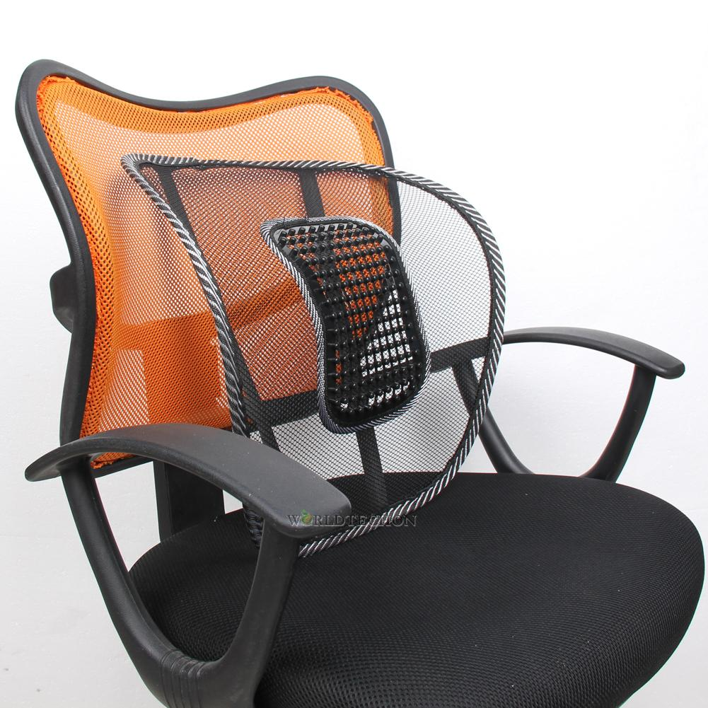 Vent Massage Cushion Mesh Back Lumber Support Office Chair