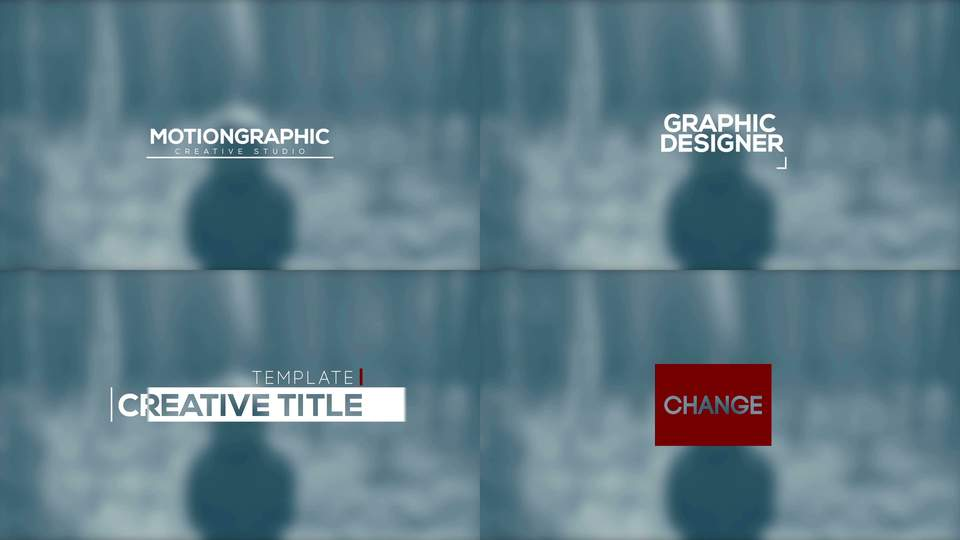 Simple Title Animation After Effects templates 9195359 - animation title