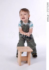 little boy with hammer and wooden chair [27273266 ...