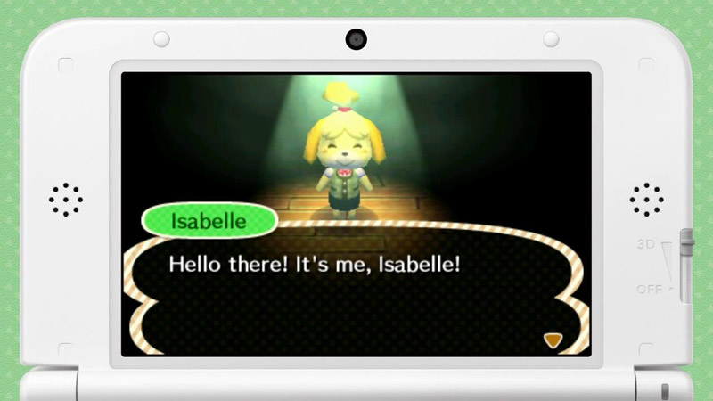 Isabelle from Animal Crossing: New Leaf message