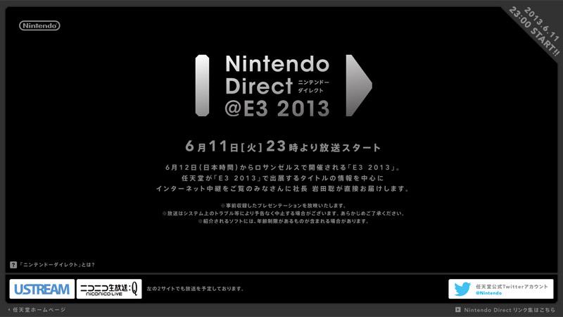 Nintendo Direct @ E3 2013